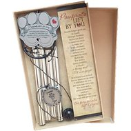 The Grandparent Gift Co. Pawprints Left by You Pet Memorial Windchime, 12-inch