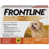 Frontline Gold Flea & Tick Treatment for Small Dogs (5-22 lbs), 6 treatments