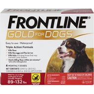 Frontline Plus Flea Amp Tick Treatment For Dogs 89 132 Lbs