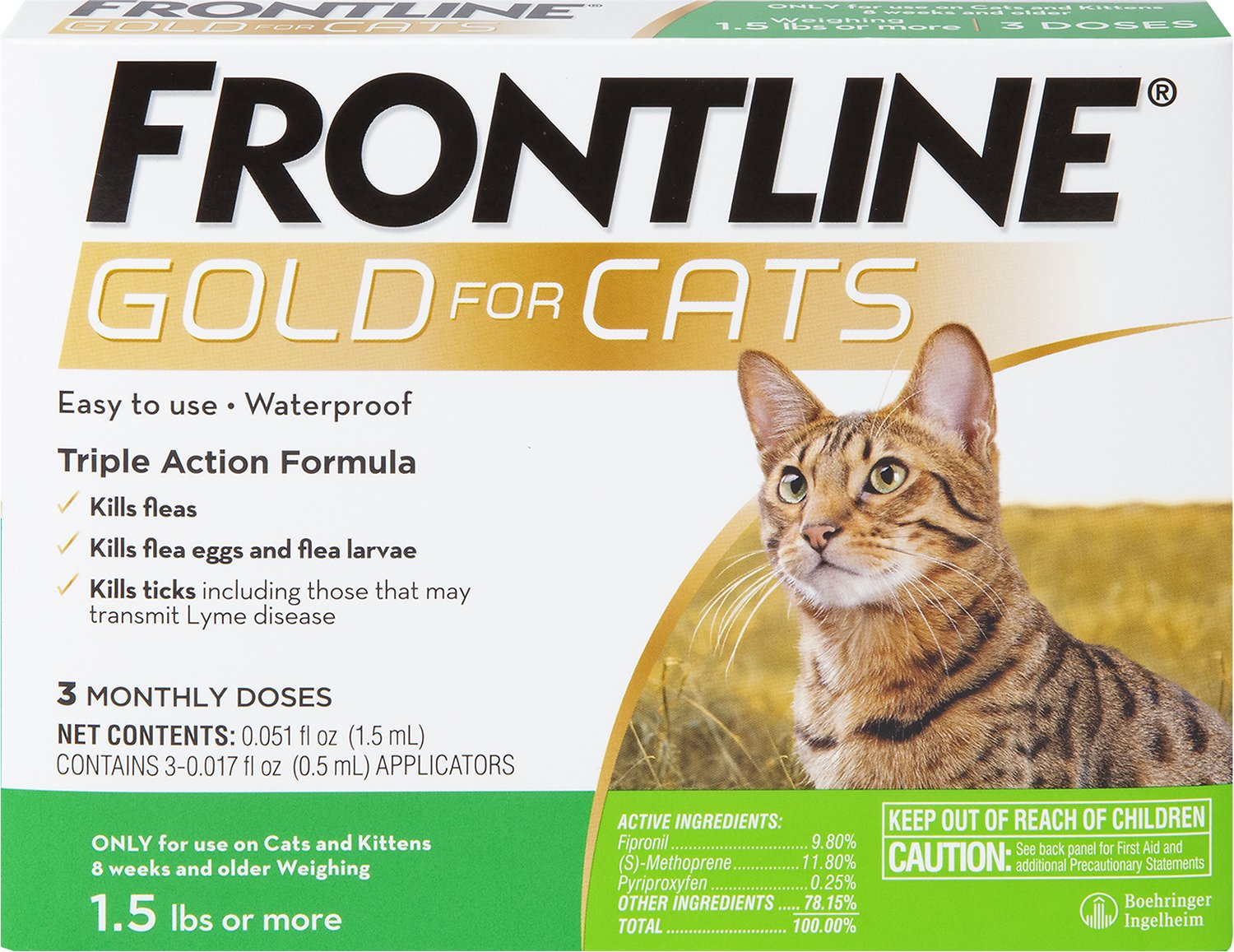 Frontline Gold Flea Amp Tick Treatment For Cats 3