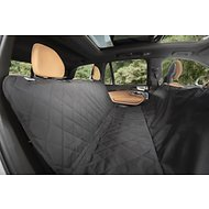 Plush Paws Products Seat Cover for Compact Cars, Black, Small
