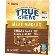 True Chews Meal Makers Chicken, Bacon & Egg Medley Dog Treats, 9-oz bag
