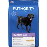 Authority Chicken & Rice Formula Large Breed Senior Dry Dog Food, 34-lb bag