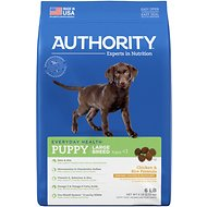 Authority Chicken & Rice Formula Large Breed Puppy Dry Dog Food, 6-lb bag