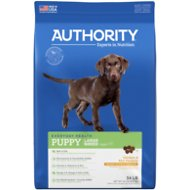 Authority Chicken & Rice Formula Large Breed Puppy Dry Dog Food, 34-lb bag