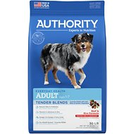 Authority Tender Blends Beef & Rice Formula Adult Dry Dog Food, 30-lb bag