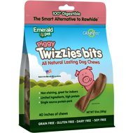 Emerald Pet Piggy Twizzies Bits Grain-Free Dog Treats, 10-oz bag