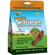 Emerald Pet Turducky Twizzies Bits Grain-Free Dog Treats, 10-oz bag