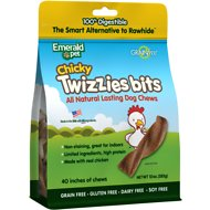 Emerald Pet Chicky Twizzies Bits Grain-Free Dog Treats, 10-oz bag