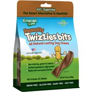 Emerald Pet Peanutty Twizzies Bits Grain-Free Dog Treats, 10-oz bag