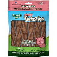 Emerald Pet Piggy Twizzies Grain-Free Dog Treats, 6 count, 6 in