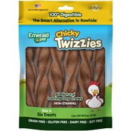 Emerald Pet Chicky Twizzies Grain-Free Dog Treats, 6 count, 6 in