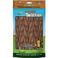 Emerald Pet Peanutty Twizzies Grain-Free Dog Treats, 6 count, 9 in