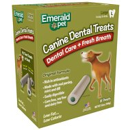 Emerald Pet Canine Fresh Breath Formula Mint Flavored Dental Dog Treats