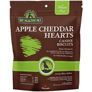 Holistic Blend Wheat-Free Apple Cheddar Hearts Dog Treats, 8.3-oz bag