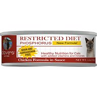 Dave's Pet Food Restricted Diet Phosphorus Chicken Formula in Sauce Grain-Free Canned Cat Food, 5.5-oz, case of 24