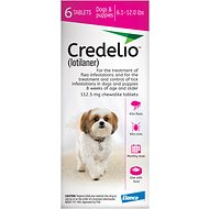 Credelio Chewable Tablet for Dogs, 6.1-12 lbs, 6 count