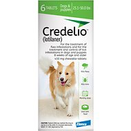 Credelio Chewable Tablet for Dogs, 25.1-50 lbs, 6 count