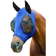 WeatherBeeta Stretch Bug Eye Horse Fly Mask with Covered Ears, Navy/Black, Pony