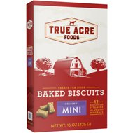 True Acre Foods Mini Original Baked Biscuits Dog Treats, 15-oz box