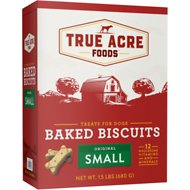 True Acre Foods Small Original Baked Biscuits Dog Treats, 1.5-lb box