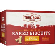 True Acre Foods Medium Original Baked Biscuits Dog Treats, 8.5-lb box