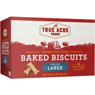 True Acre Foods Large Original Baked Biscuits Dog Treats, 8.5-lb box