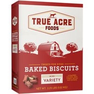 True Acre Foods Mini Variety Baked Biscuits Dog Treats, 36-oz box