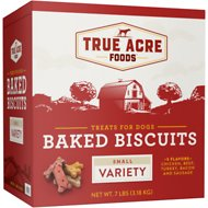 True Acre Foods Small Variety Baked Biscuits Dog Treats, 7-lb box