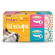 Friskies Lil' Soups with Sockeye Salmon & Tuna Variety Pack Lickable Cat Treats , 1.2-oz cup, case of 18