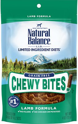 Natural Balance L.I.D. Limited Ingredient Diets Chewy Bites Lamb Formula Grain-Free Dog Treats, 4-oz bag