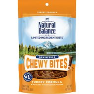Natural Balance L.I.D. Limited Ingredient Diets Chewy Bites Turkey Formula Grain-Free Dog Treats, 4-oz bag