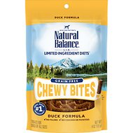 Natural Balance L.I.D. Limited Ingredient Diets Chewy Bites Duck Formula Grain-Free Dog Treats, 4-oz bag