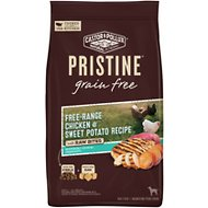 Castor & Pollux Pristine Grain-Free Free-Range Chicken & Sweet Potato Recipe with Raw Bites Dry Dog Food, 18-lb bag