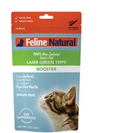 Feline Natural Booster Lamb Green Tripe Freeze-Dried Cat Food Topper, 2-oz bag