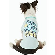 "Pup Crew ""I'm Here For The Chicks"" Dog & Cat T-Shirt, Large"