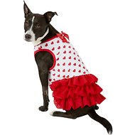 Pup Crew Red Heart Print Dog Dress, X-Large