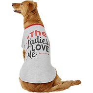 Pup Crew The Ladies Love Me Dog & Cat T-Shirt, XX-Large