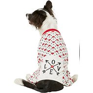 Pup Crew Heart Print Love Dog Pajamas, Large