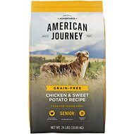 American Journey Chicken & Sweet Potato Recipe Grain-Free Senior Dry Dog Food, 24-lb bag