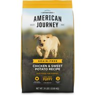 American Journey Chicken & Sweet Potato Recipe Grain-Free Large Breed Puppy Dry Dog Food, 24-lb bag