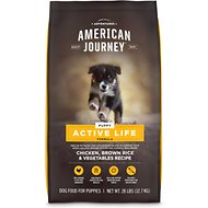 American Journey Active Life Formula Puppy Chicken, Brown Rice & Vegetables Recipe Dog Food, 28-lb bag