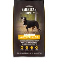 American Journey Healthy Weight Chicken & Brown Rice Protein First Recipe Dry Dog Food, 28-lb bag