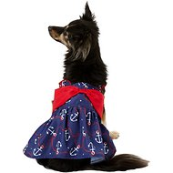 Pup Crew Anchor Bow Dog Dress, Small