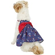 Pup Crew Anchor Bow Dog Dress, Medium