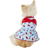 Pup Crew Popsicle Print Bow Dog Dress, XX-Small