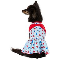 Pup Crew Popsicle Print Bow Dog Dress, Small