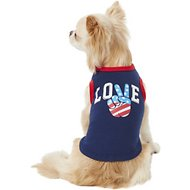 "Pup Crew Americana ""Love"" Dog & Cat T-Shirt, X-Small"