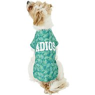 "Pup Crew ""Adios"" Palm Print Dog & Cat T-Shirt, Medium"