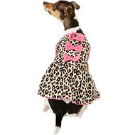Pup Crew Cheetah Print w/ Bows Dog Dress, Medium